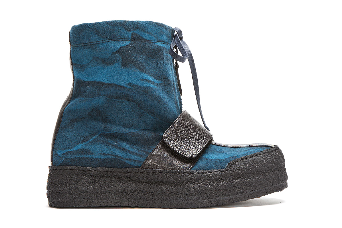 Image of Kenzo Blue Wool Night Cloud Boots