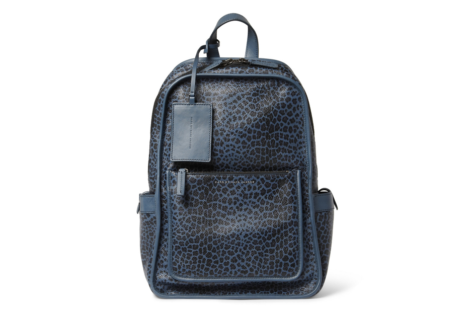 Image of Marc by Marc Jacobs Leopard-Print Leather Backpack