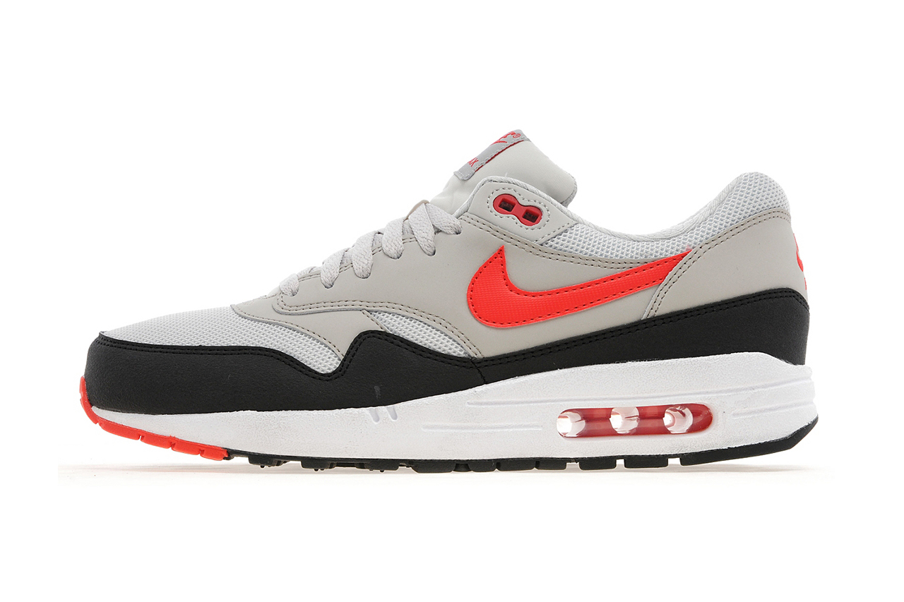 Image of Nike Air Max 1 Light Bone/Black-Cherry Red JD Sports Exclusive