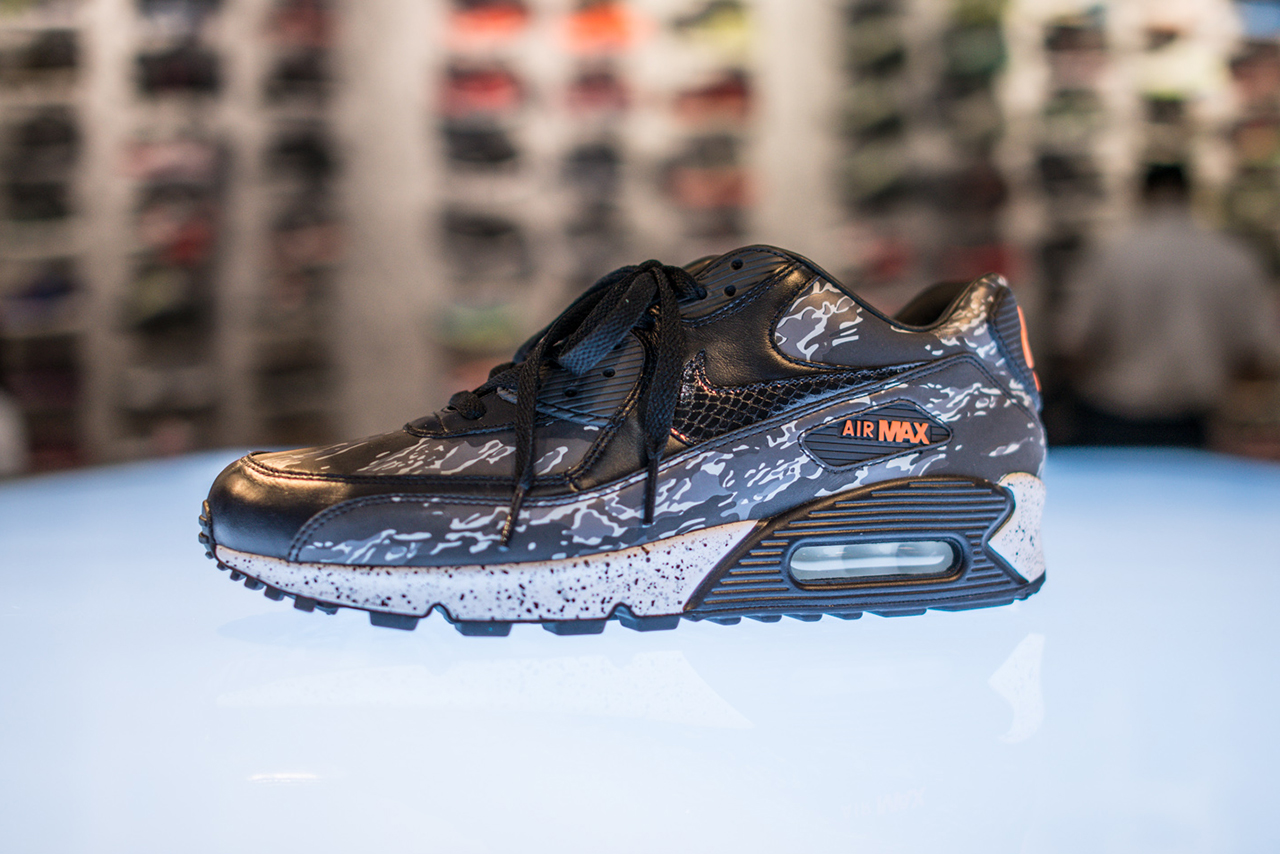 "Image of Nike Air Max 90 atmos Exclusive ""Black Tiger Camo"""