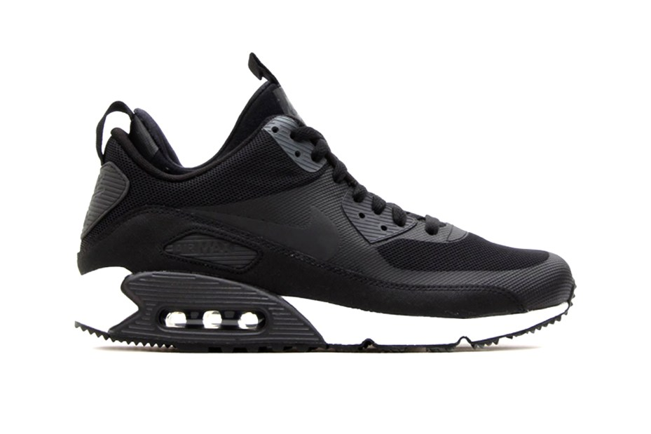 Image of Nike Air Max 90 Sneakerboot Black/Dark Charcoal-White