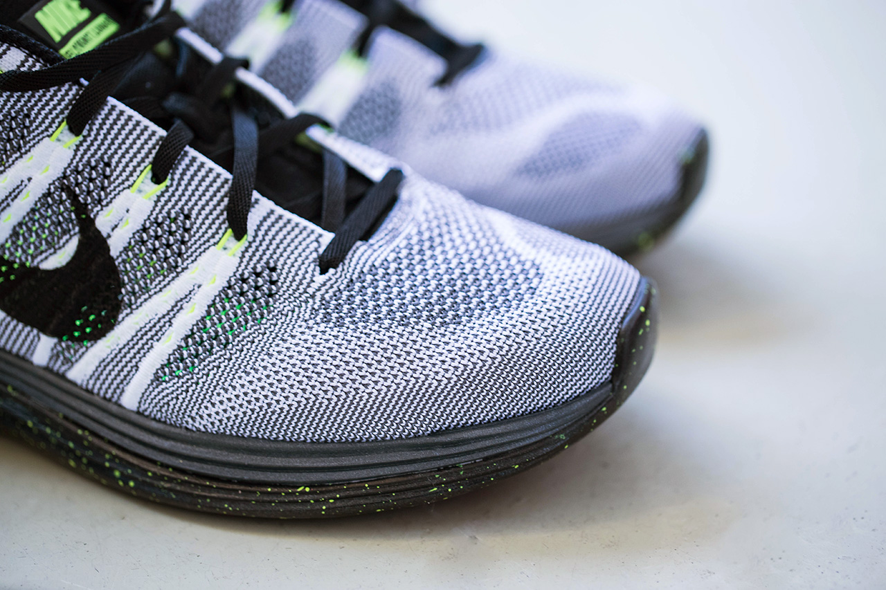 Image of Nike Flyknit Lunar 1+ White/Black-Dark Grey-Volt