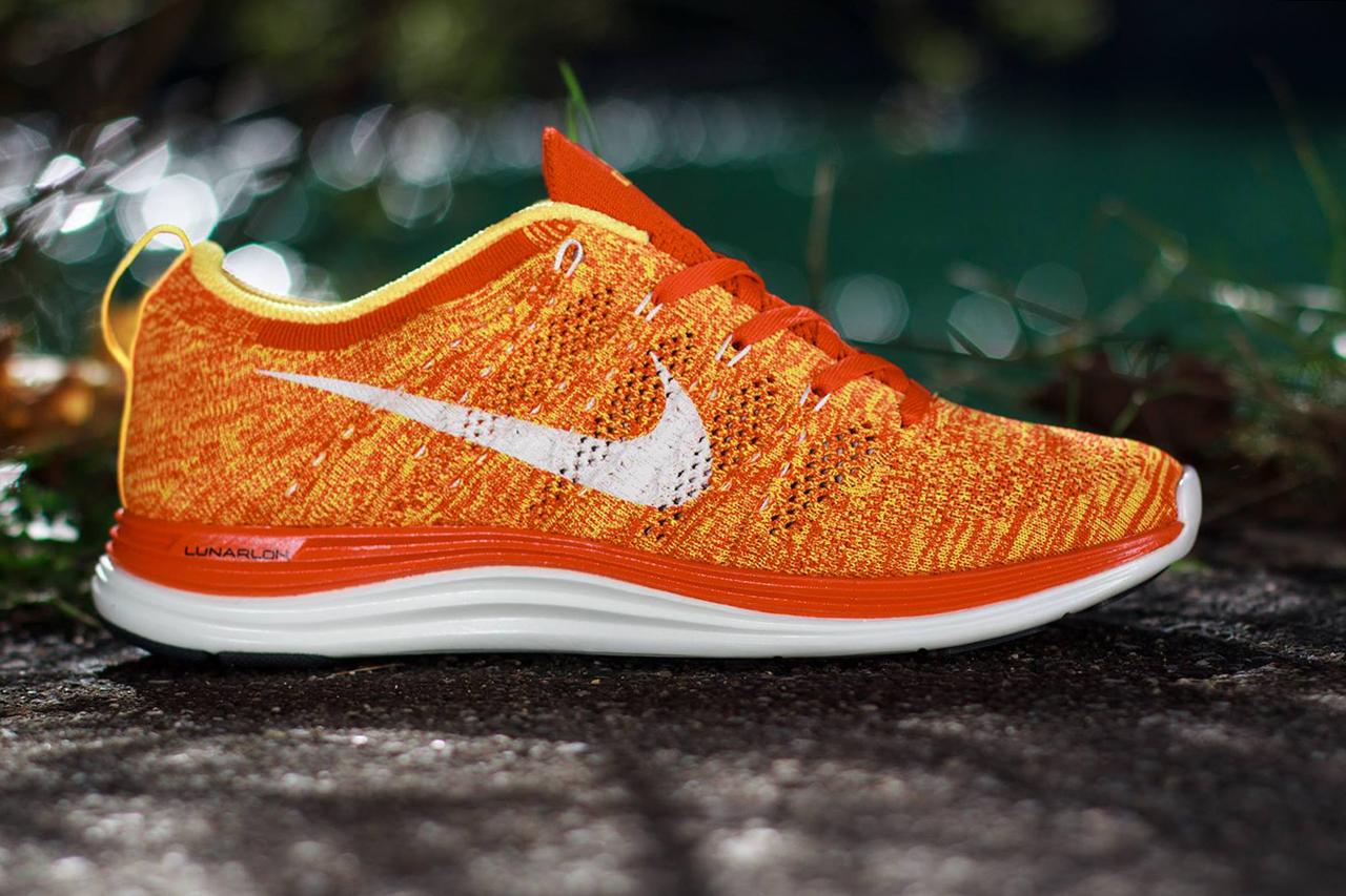 Image of Nike Flyknit Lunar 1+ Team Orange/Laser Orange