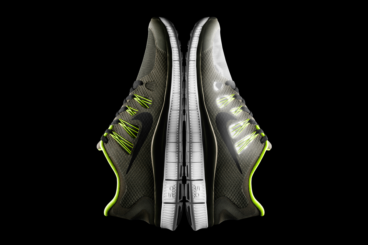 Image of Nike Free 5.0+ Shield Dark Loden/Black-Volt-Pure Platinum