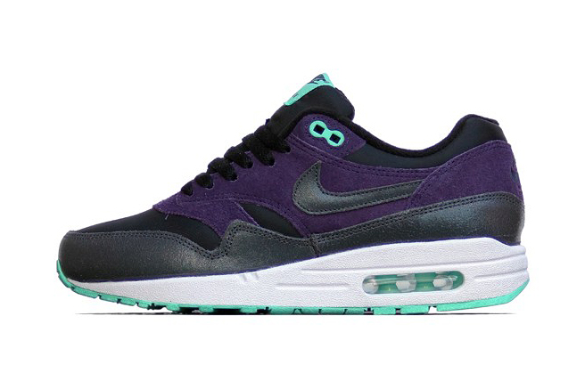 Image of Nike WMNS Air Max 1 Essential Black/Anthracite-Purple Dynasty-Green Glow