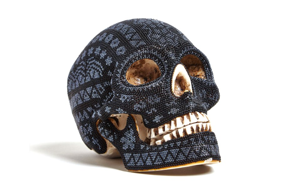 Image of Our Exquisite Corpse Huichol Black Skull