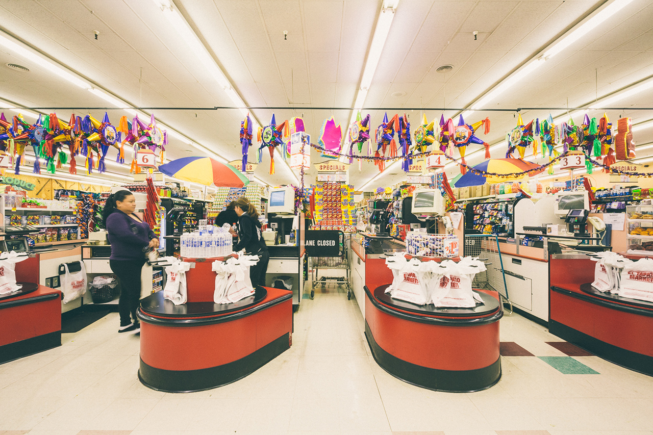 "Image of Patrick Martinez Invades a Supermarket for His ""Break Bread"" Installation"