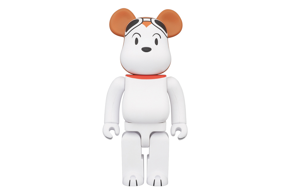 "Image of Peanuts x Medicom Toy 400% & 1000% Snoopy ""Flying Ace"" Bearbricks"