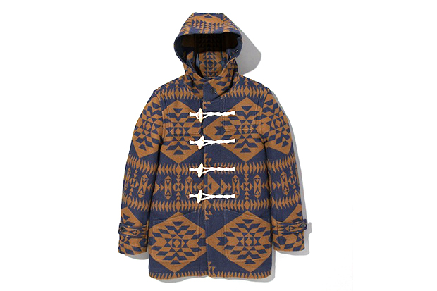 Image of Pendleton x DELUXE Hooded Jacket Navy/Brown