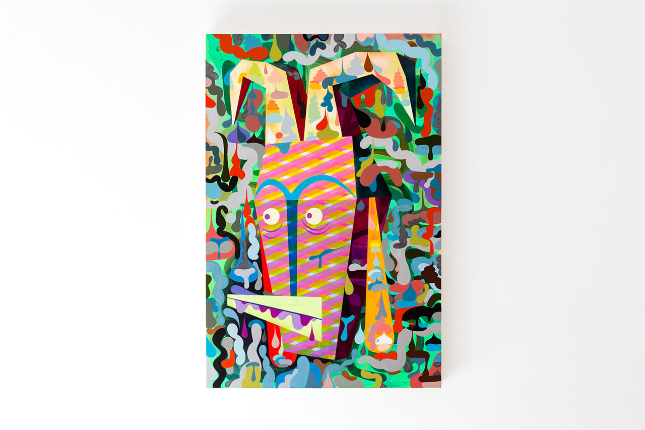 "Image of Tim Biskup ""Charge"" @ Martha Otero Gallery"