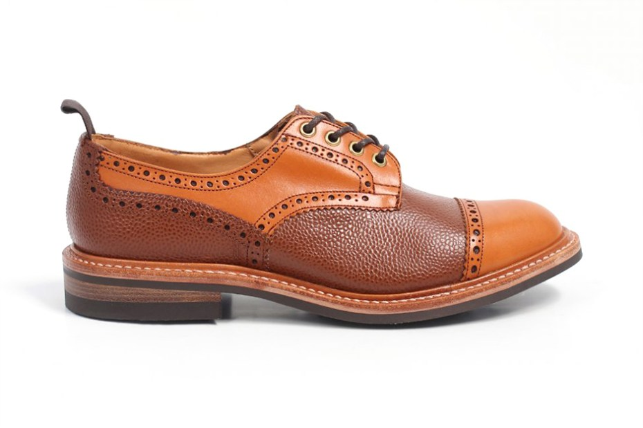 Image of Tricker's for Triads 2013 Fall Two-Tone Leather Derby Brogues