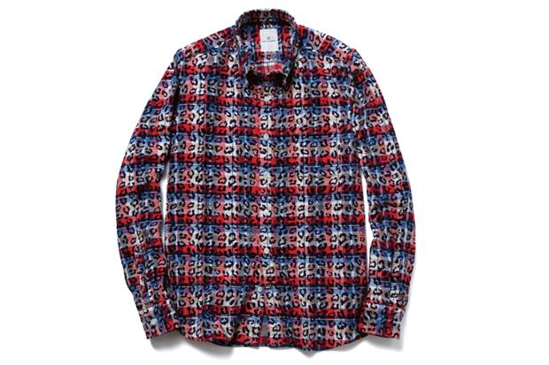 Image of uniform experiment Leopard Over Print Flannel B.D Shirt