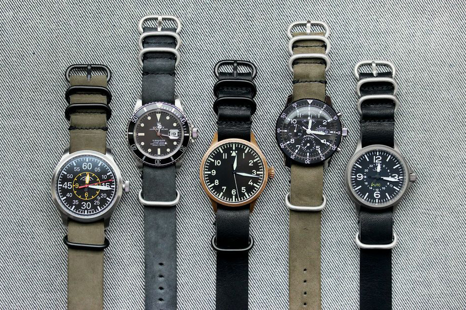 Image of worn&wound Horween Leather NYC NATO Watchstraps