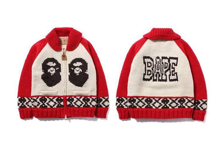 Image of A Bathing Ape x Canadian Sweater Company 2013 Fall/Winter Cowichan Cardigan