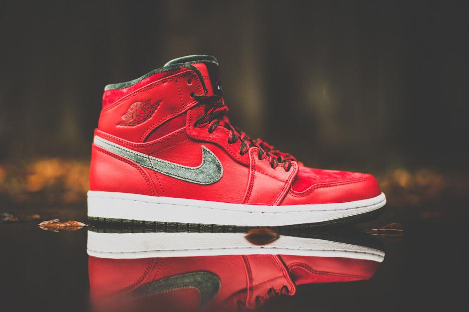 Image of Air Jordan 1 High Premier Varsity Red/Dark Army