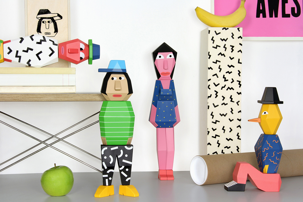"Image of Andy Rementer x Case Studyo ""People Blocks"" Sculptures"