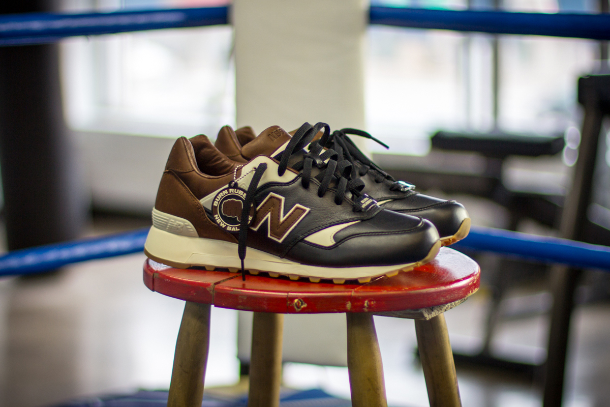 "Image of Burn Rubber x New Balance 577 ""Joe Louis"""