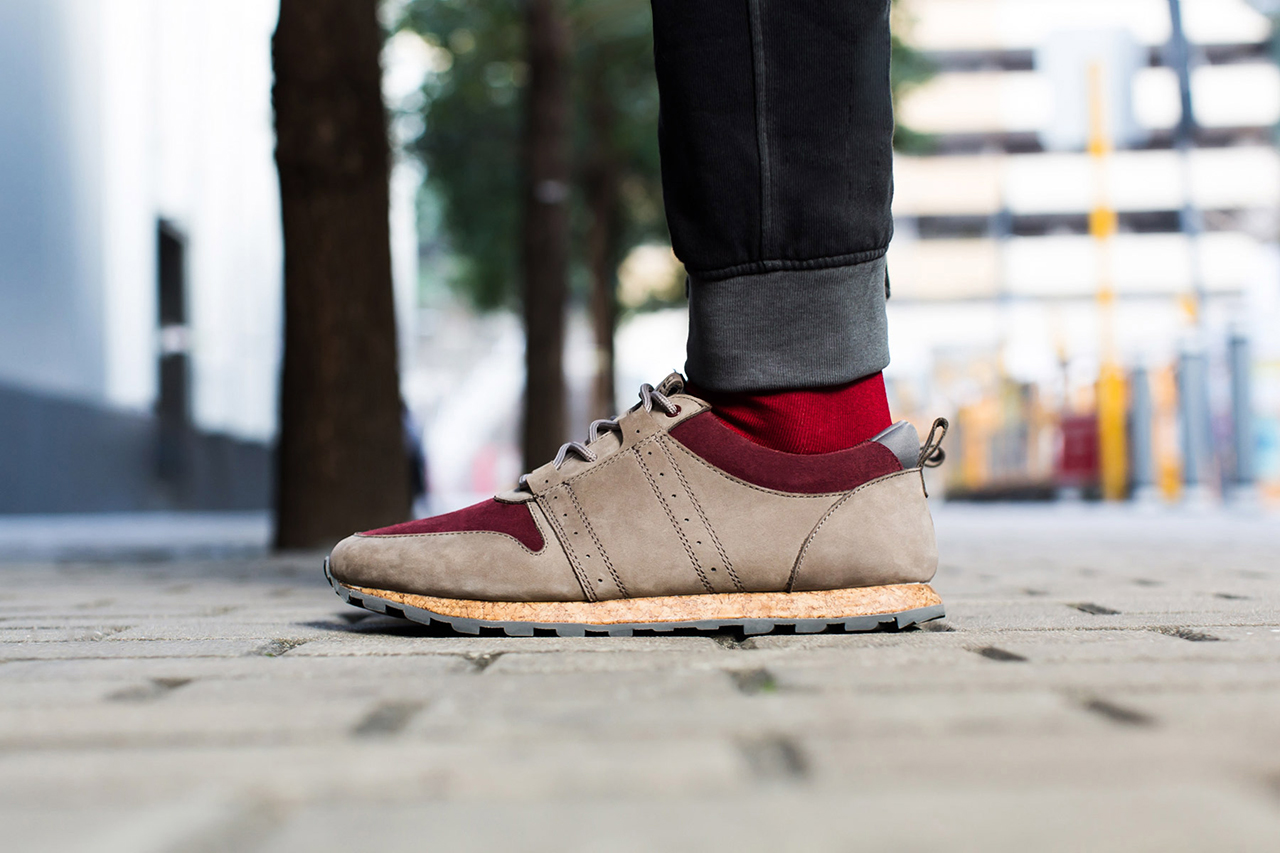Image of CLAE Mills Taupe/Oxblood Suede