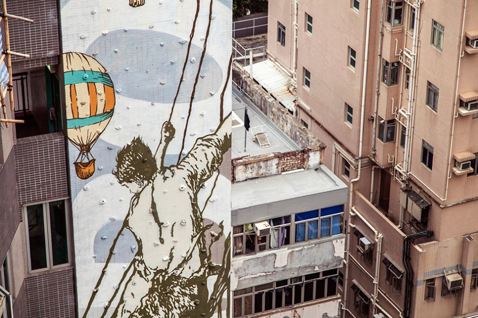 "Image of CYRCLE. Paints ""Rise Above"" Mural in Hong Kong"