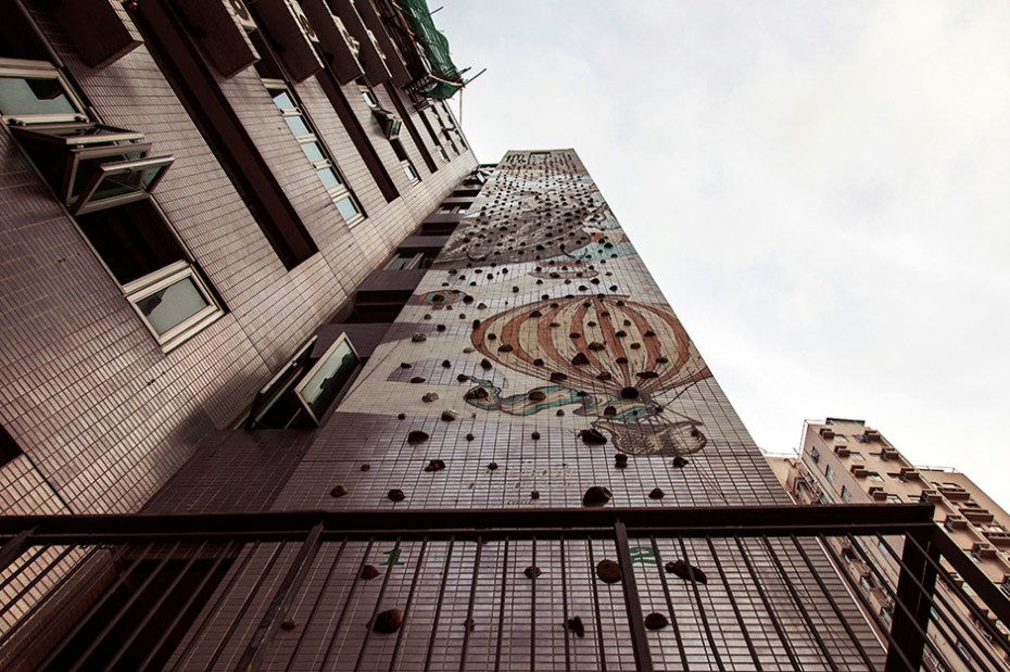"""Image of CYRCLE. Paints """"Rise Above"""" Mural in Hong Kong"""