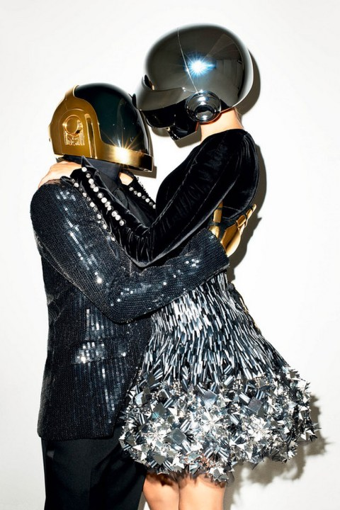 Image of Daft Punk & Gisele Bündchen by Terry Richardson for The WSJ Magazine