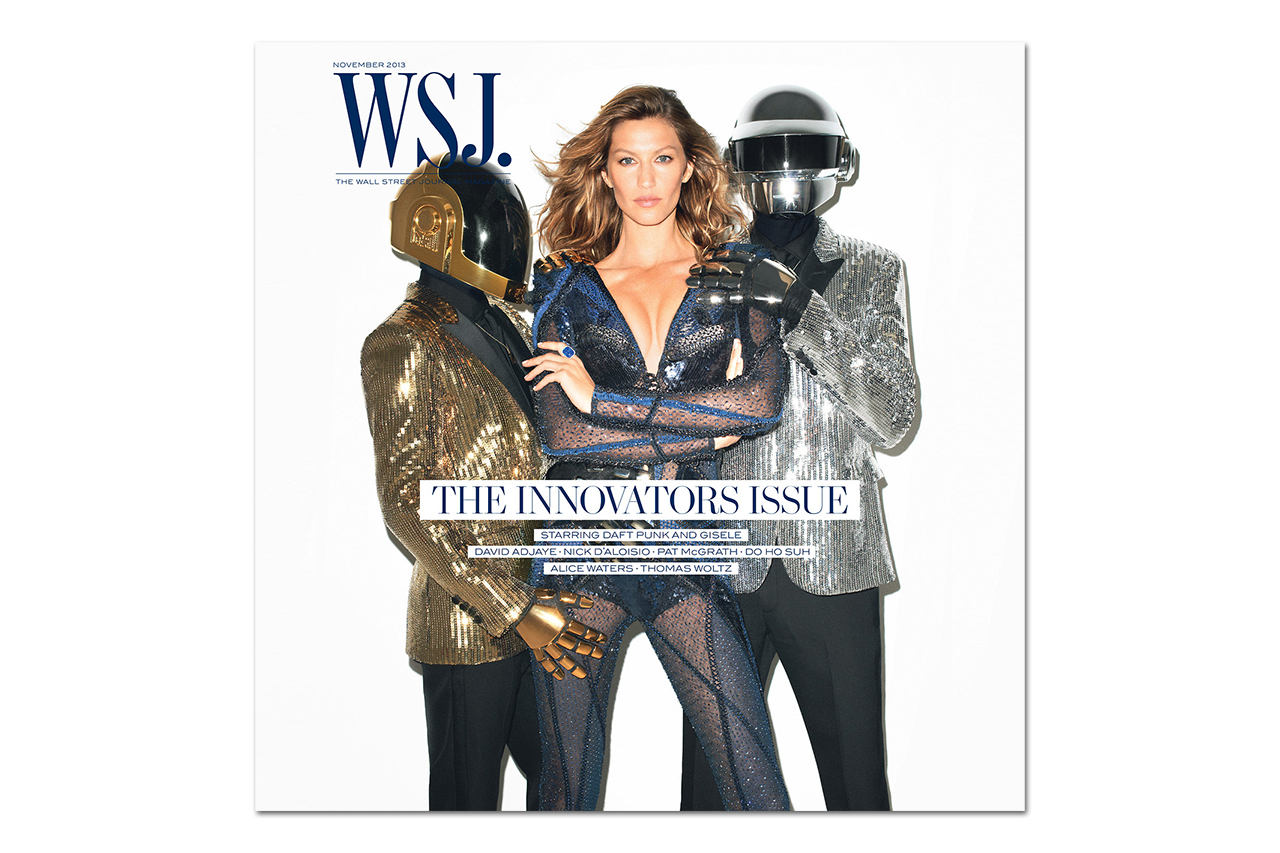 Image of Daft Punk & Gisele Bundchen Cover the 2013 November Issue of The WSJ Magazine