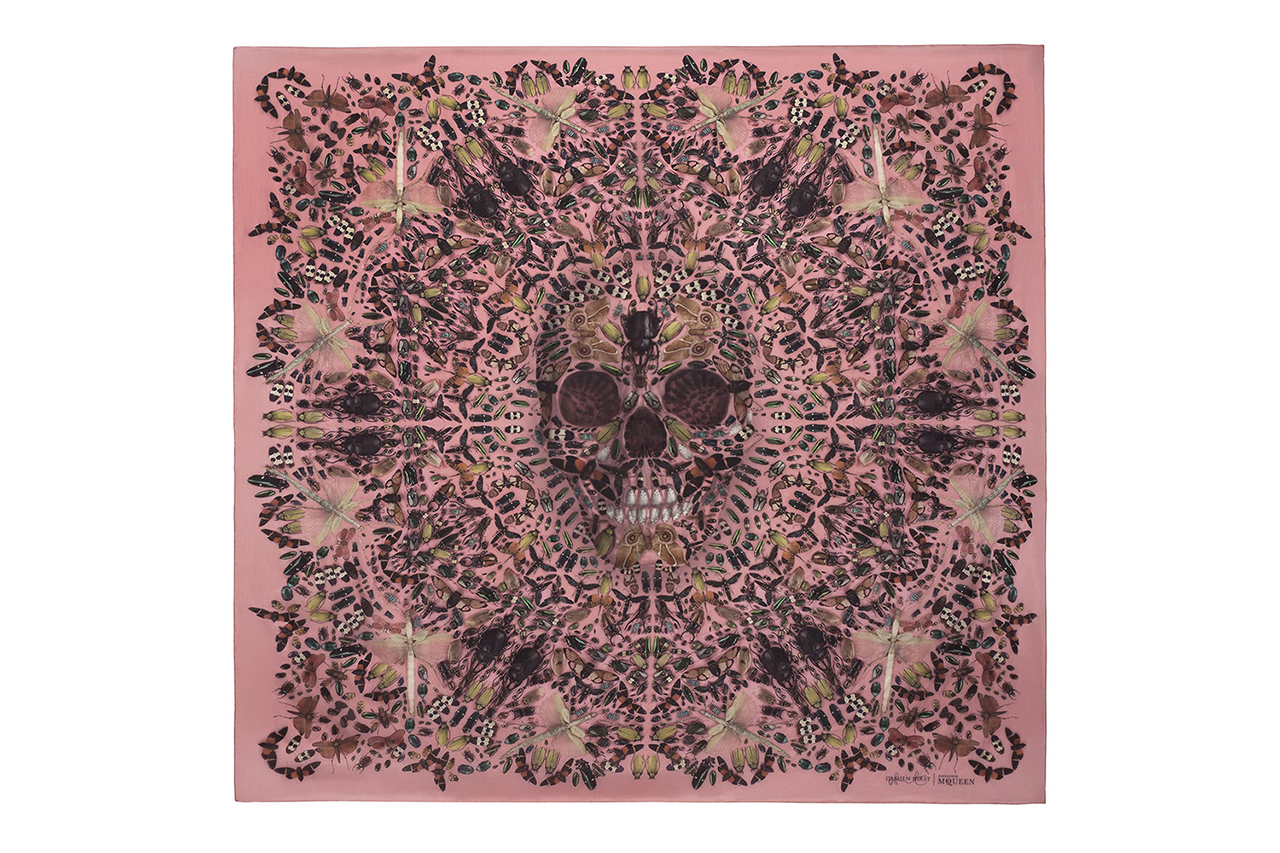Image of Damien Hirst & Alexander McQueen Celebrate the 10th Anniversary of the Skull Scarf