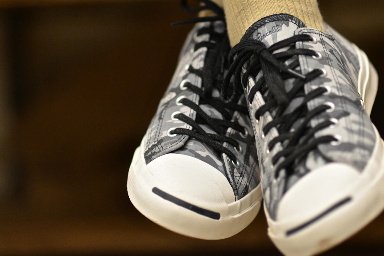 Image of Dapper Lou Presents the Converse Jack Purcell Black + White