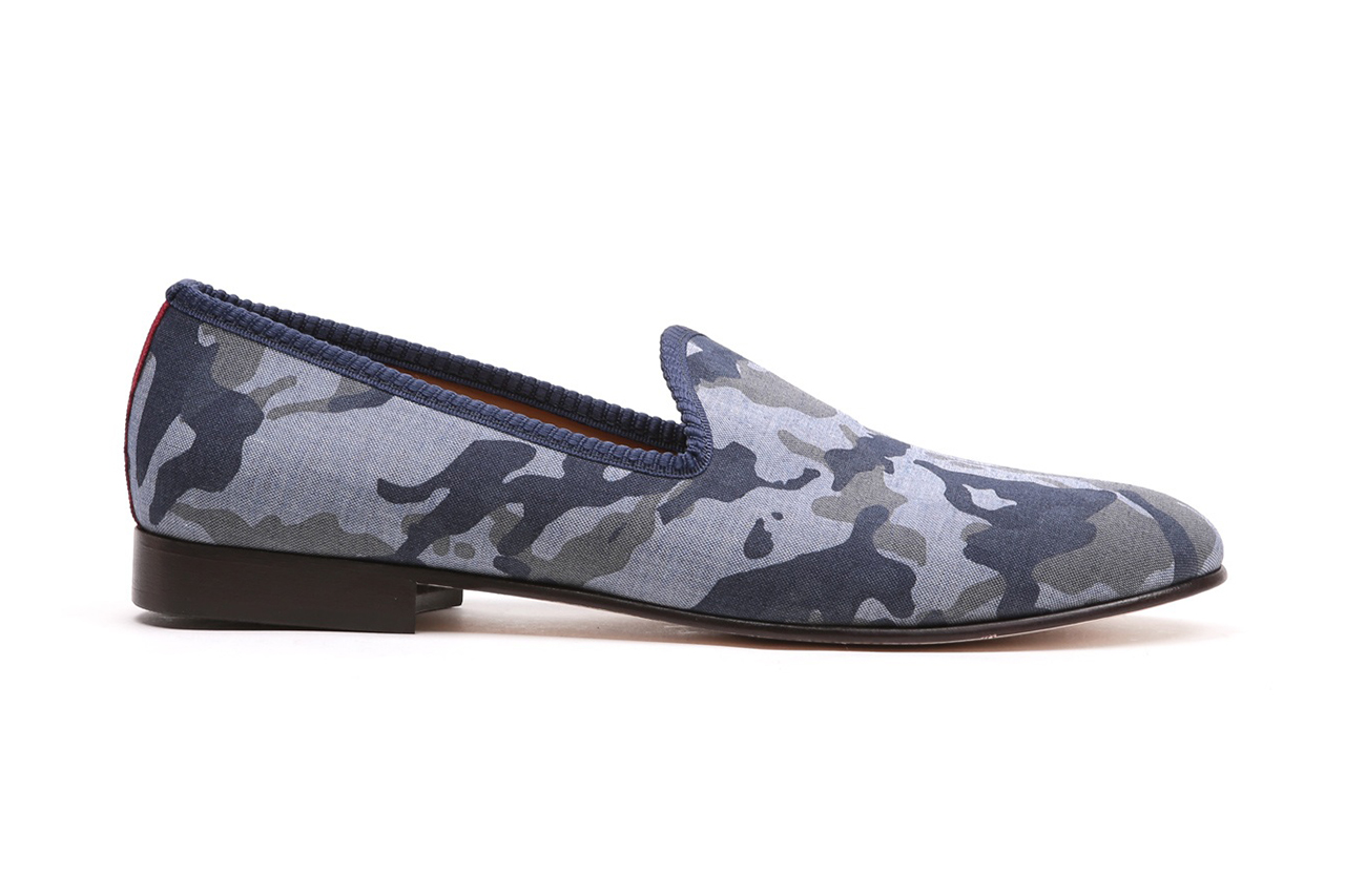 Image of Del Toro Navy Camo Linen Collection