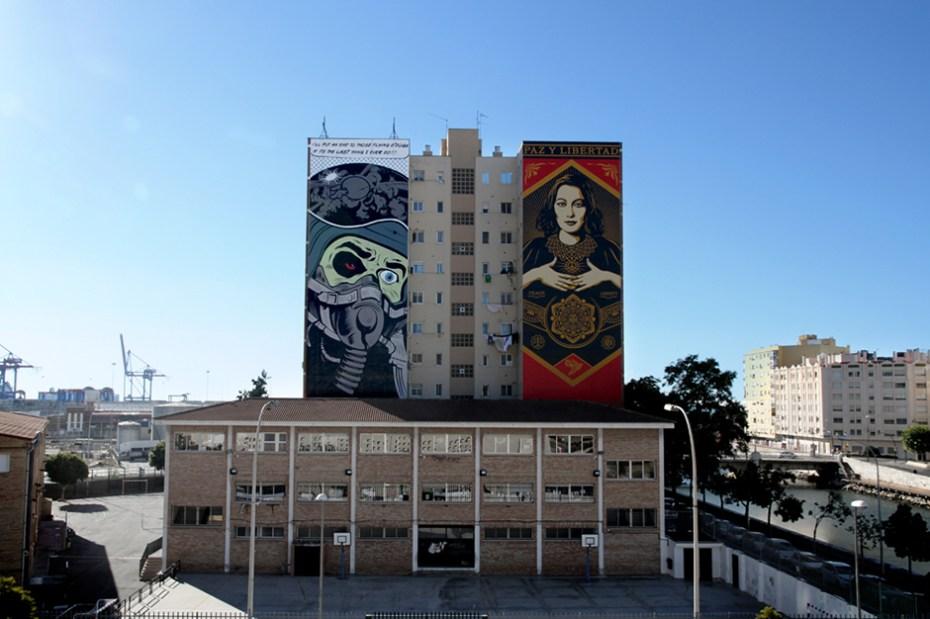 Image of Shepard Fairey & D*Face Mural in Spain
