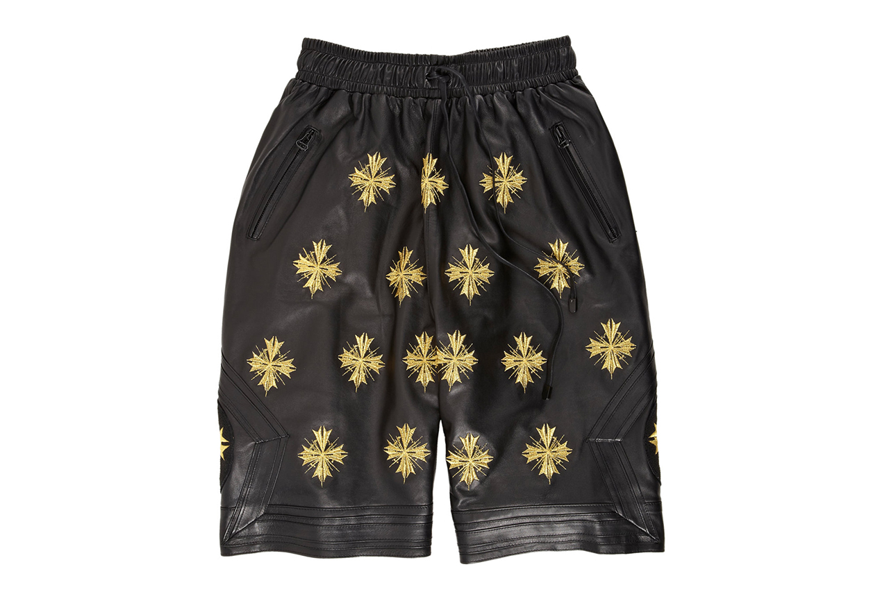 "Image of En Noir Embroidered Leather Boxing Shorts for Barneys & Jay Z's ""A New York Holiday"""