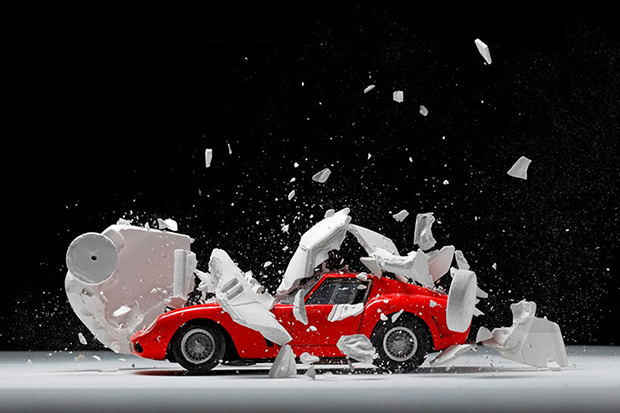 Image of Fabian Oefner Blows Up Classic Sports Cars