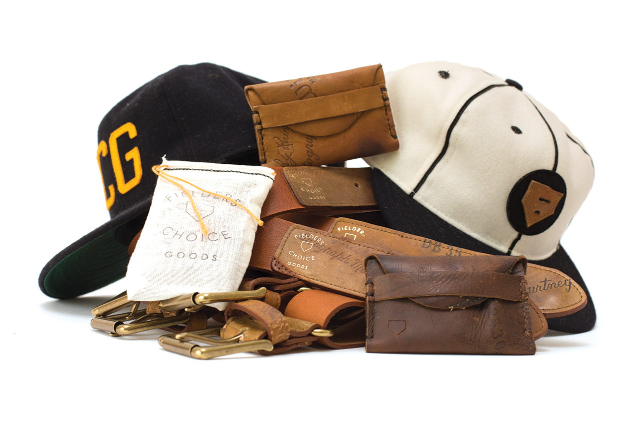 Image of Fielder's Choice Goods Re-purposes Vintage Baseball Gear Into Accessories