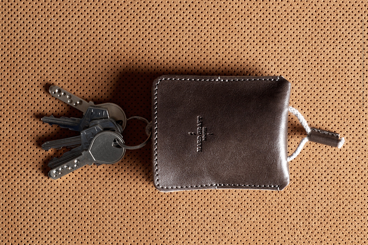 Image of hard graft Draw Key Pouch