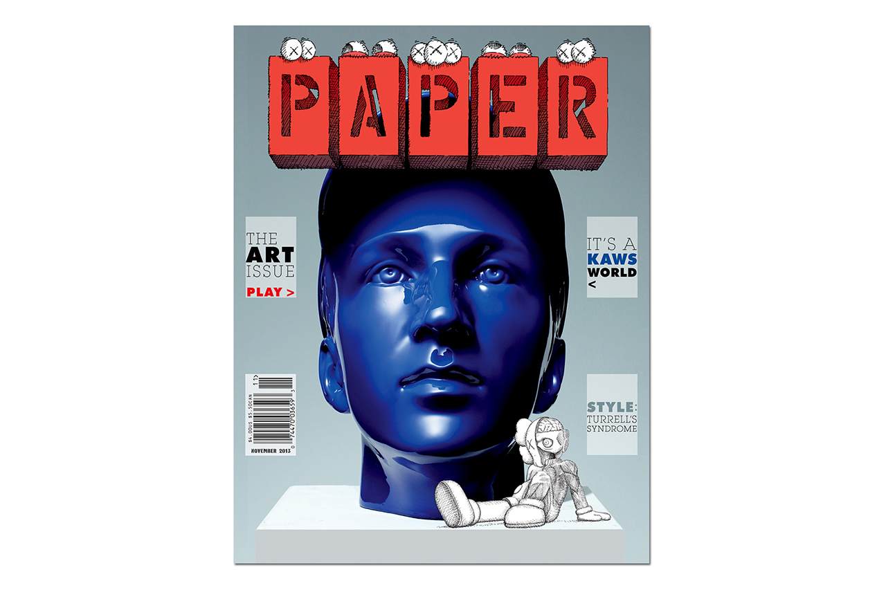 "Image of KAWS Covers the 2013 November ""Art Issue"" of PAPER Magazine"