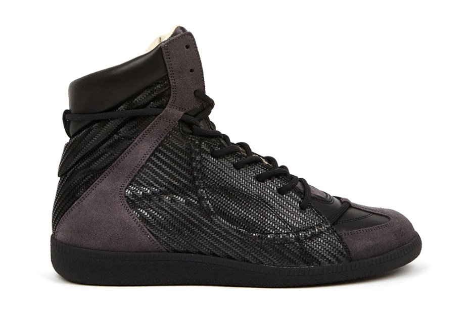 Image of Maison Martin Margiela 22 Woven Hidden Lace High-Top Sneakers