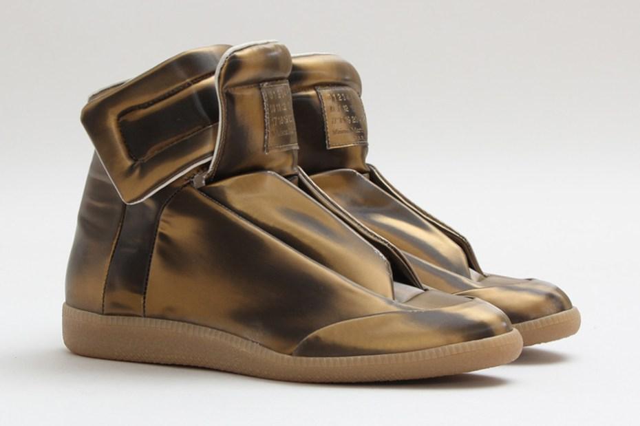 "Image of Maison Martin Margiela High-Top Sneaker ""Bronze"""