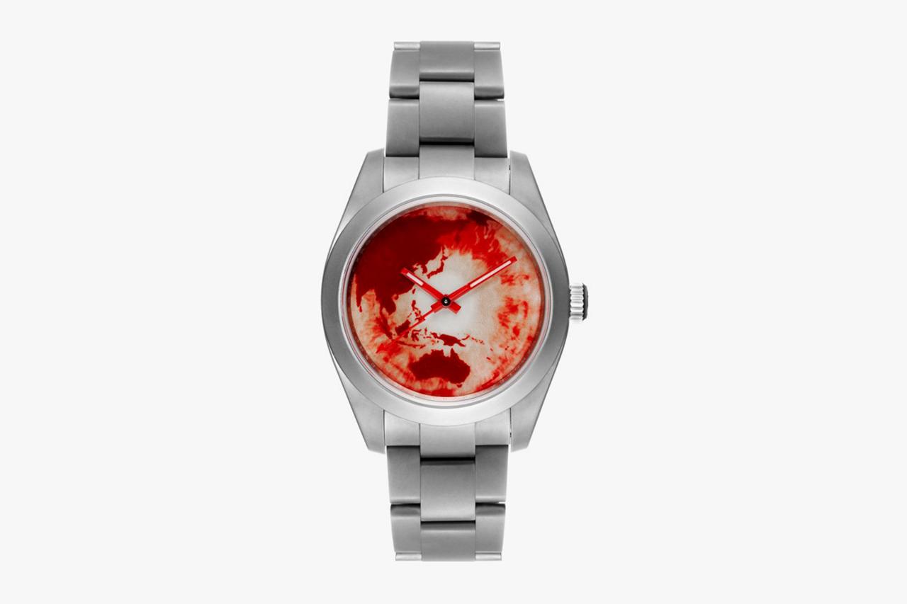 """Image of Marc Quinn x Bamford Watch Department Rolex Milgauss """"Red Ocean Orbit"""""""