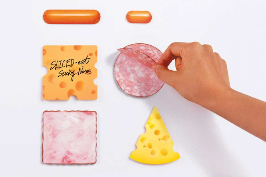 "Image of Marsmers Creates ""Sliced Eat"" Sticky Notes"