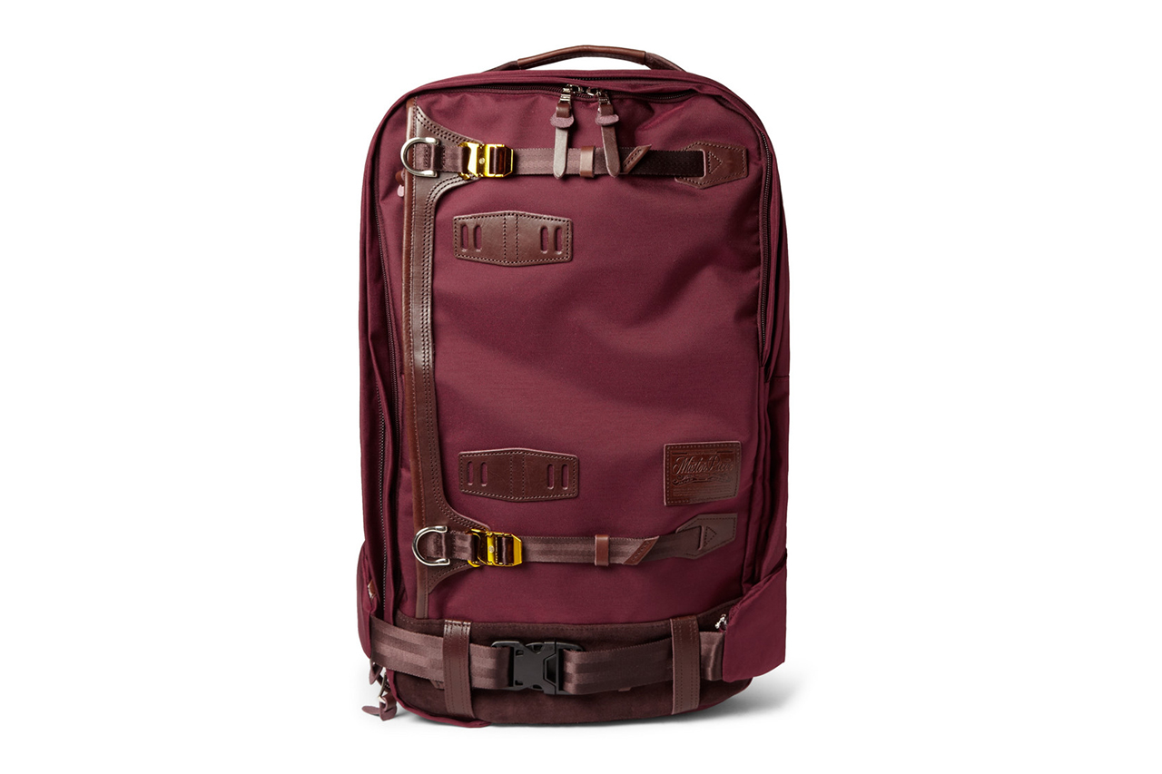 Image of master-piece 2013 Fall/Winter Potential Leather-Trimmed Cordura Backpack