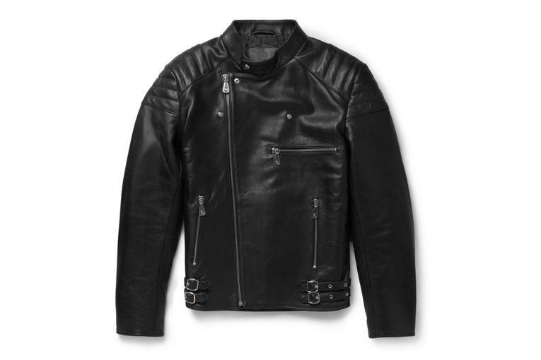 Image of McQ by Alexander McQueen Quilted Leather Biker Jacket