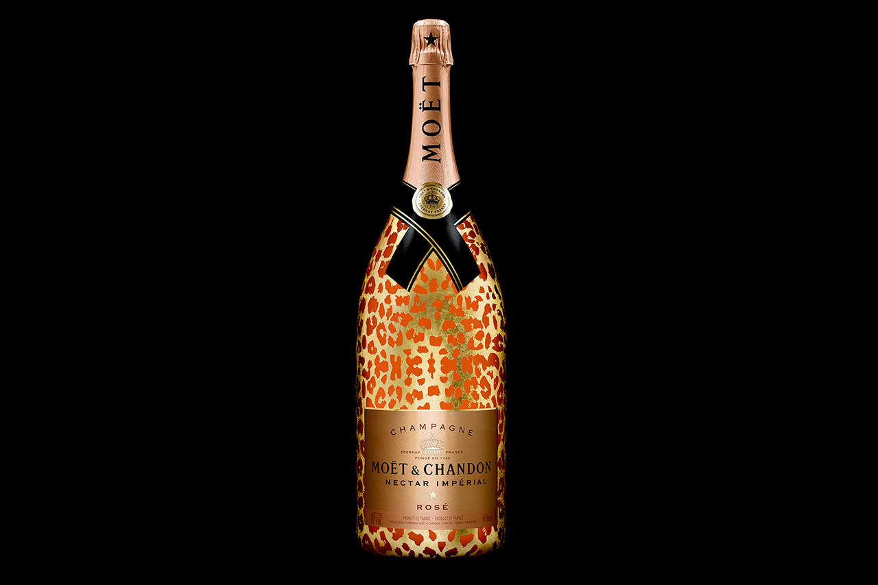 Image of Moët & Chandon Moët Nectar Impérial Rosé Leopard Luxury Edition Methuselah Bottle