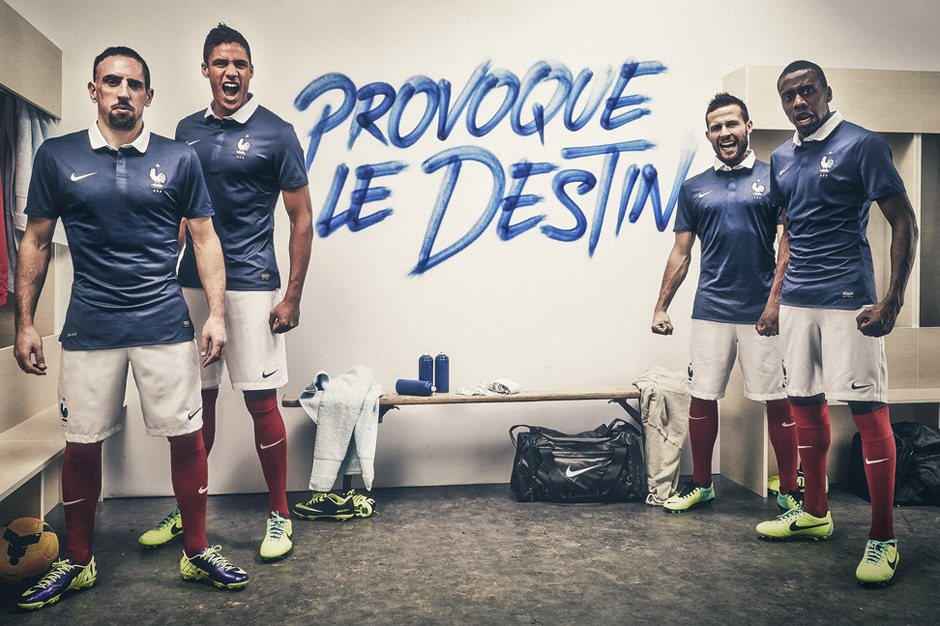 Image of Nike Unveils France's 2014 Football Kit
