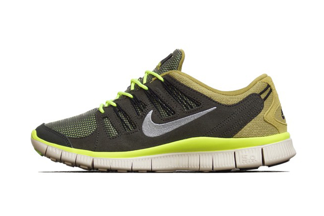 Image of Nike Free 5.0 EXT Newsprint/Dusty Grey-Parachute Gold-Beach