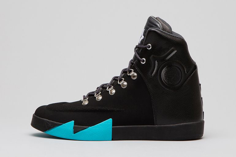Image of Nike KD VI NSW Lifestyle Leather QS Black/Black-Anthracite-Gamma Blue