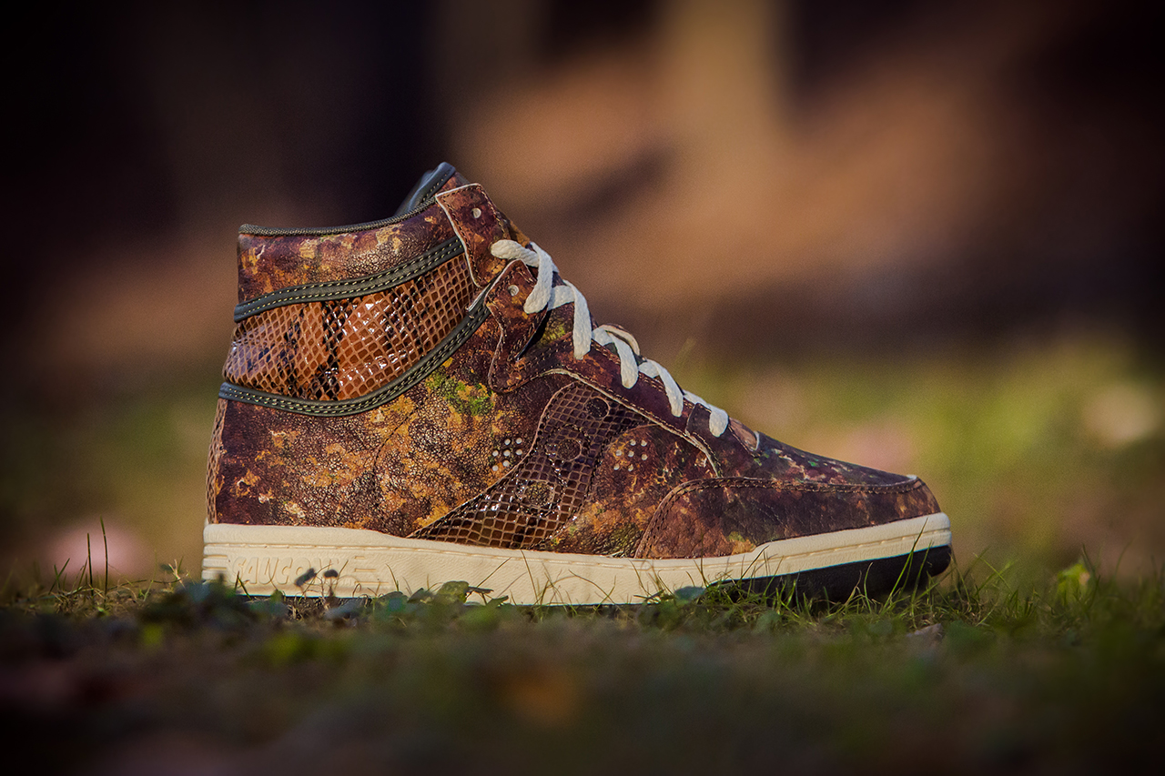 "Image of Packer Shoes x Saucony Hangtime ""Woodland Snake"""