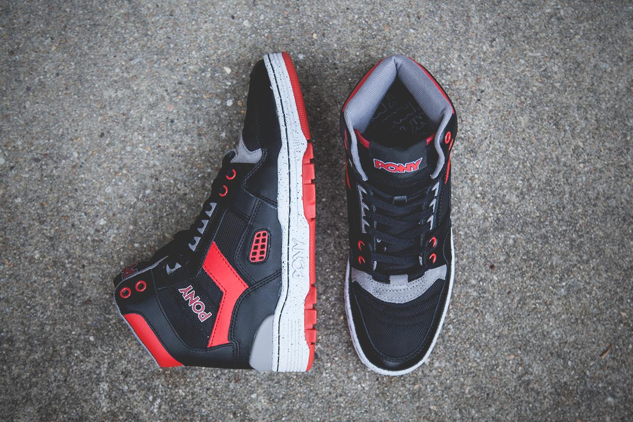 Image of PONY M-100 Hi Black/Red