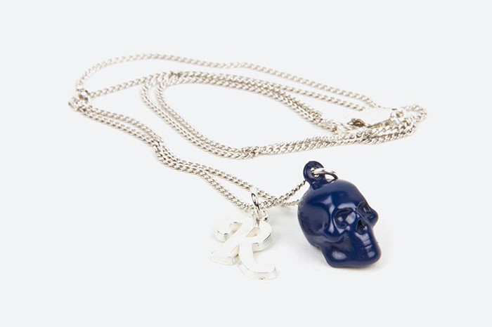 Image of Raf Simons x Atelier 11 Skull and R Silver Necklace