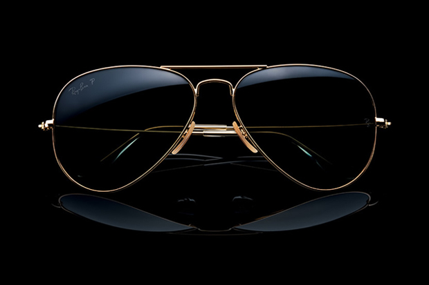 Image of Ray-Ban Solid 18k Gold Aviator