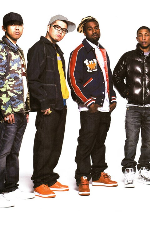 Image of A Look Back at Pharrell, Kanye West and Big Sean Alongside NIGO in A Bathing Ape's Fall/Winter 2008 MOOK
